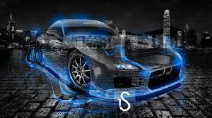 mazda rx7 fire crystal car