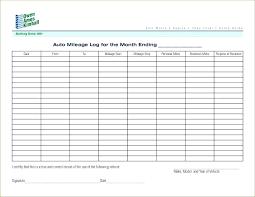 Mileage Log Sheet Listoflinks Co