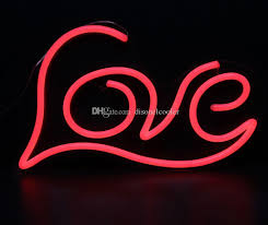 2018 large 19 x12 illuminated love letters words handmade custom led neon open neon signs bar sign 3d wall decorations neon light up letters from
