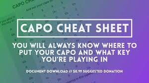 Capo Transpose Chart Capos The Capo Cheat Sheet