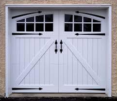 handles and straps decorative garage door hardware on white door