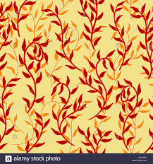 Creeper Design Patterns Liana Spreads Red Leaves Creeper Seamless Pattern Background