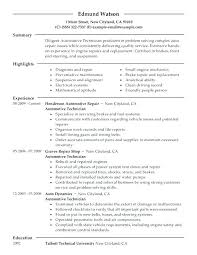 Automotive Resume Mesmerizing Industrial Mechanic Resume Maintenance Resume Skills Entry Level