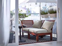 balcony furniture and fairy lights from ikea outdoor rugs