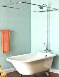 clawfoot bathtub shower bathtub shower bathtub shower curtain best images about tub on rod for bath