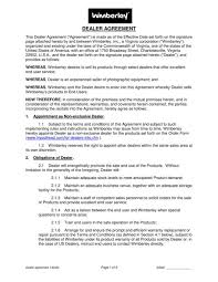 A limited liability partnership agreement is a legally binding contract made between the members of the llp (sometimes with the llp itself as. Free 21 Dealership Agreement Templates In Pdf Ms Word Pages