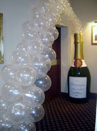 Champagne Bottle Decoration Balloon Decoration Occasion Florists Brechin