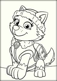 Paw Patrol Coloring Pages For Christmas Fun For Christmas Halloween