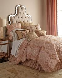 king alessandra scalloped damask duvet cover x pink beige