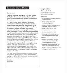 Resume Cover Letter For Entry Level Position 15 Entry Level Engineering Cover Letters Resume Cover