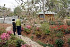 patrick and atsuko mcenroe admire the updated japanese garden in hermann park feb 28
