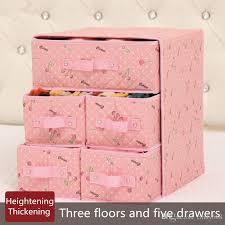 2019 lovely underwear storage box fabric 3 floors 5 drawers storage boxes socks bra finishing boxes 34x31x37cm closet organizer cajas suitcase from cindy668