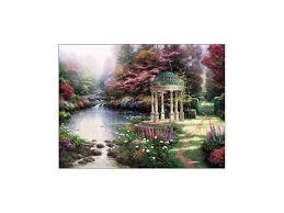 garden of prayer limited edition canvas thomas kinkade