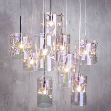 petroleum tinted 9 light cer ceiling pendant contemporary lighting litecraft
