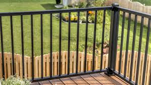 metal deck railing and metal porch