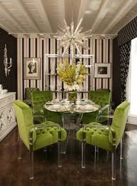 greenchairs w b find this pin and more on art deco inspired design by organized design amy smith bold modern dining room lime green and acrylic chairs