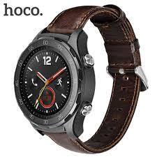 huawei watch 2 classic. luxury hoco genuine leather bracelet for huawei watch 2 classic frontier style smart band strap watch2 steel buckle-in accessories from n