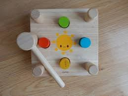 plan toys hammer and peg wooden pounding bench