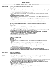 Sample Traders Resume Fixed Income Trader Resume Samples Velvet Jobs 21