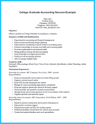 Undergraduate Accounting Resume Free Resume Example And Writing