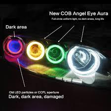 KEIN 2PCS Đèn LED ô tô COB Mắt thiên thần Vòng tròn Đèn sương mù Đèn LED ô  tô Đèn pha Vòng tròn với chụp đèn chính hãng 128,000đ