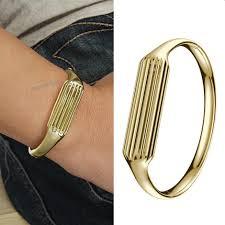luxury stainless steel metal bracelet bangle band for fitbit flex 2 tracker