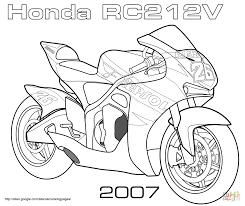 Honda rc212v road racing bike super coloring