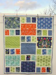 this would show off the large prints well. could buy any color ... & Fat Quarter Crib Quilt Adamdwight.com