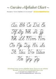 Capital And Lowercase Cursive Letters Chart Uppercase Lowercase Cursive Alphabet Charts With Arrows In