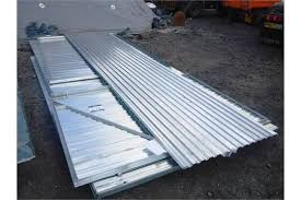 brand new corrugated metal shed 5m x 3m double doors comes with 2 keys front stands at 2 13m