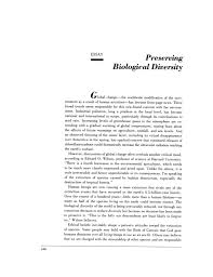 essay  preserving biological diversity   shaping the future    page