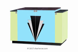 art deco furniture miami. New Art Deco 4 Door Stepped Sideboard With Design On Doors \u0026 Lacquered Painted In Miami Furniture