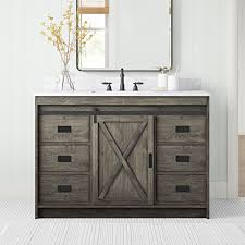 Boahaus joan dressing vanity table with mirror and 3 drawers white finish. Sand Stable Jillian 48 Single Bathroom Vanity Set Reviews Wayfair