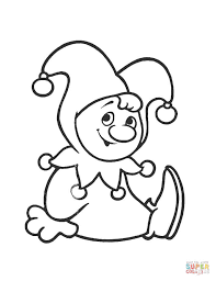 Small Picture Cute Clown coloring page Free Printable Coloring Pages