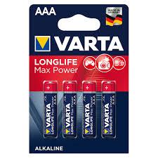 <b>Батарейка</b> алкалиновая <b>VARTA Max Tech</b> AAA, 4 шт. - купите по ...