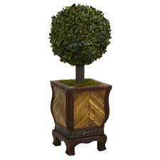 Decorative Boxwood Balls Nearly Natural 100 In High Indoor Boxwood Ball Topiary Artificial 37