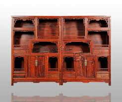 Chinese Antieke Massief Houten Boekenkast Curiosa Kast Thee Indienen