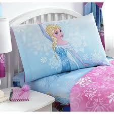 elsa bedding kids girls teal blue frozen full sized sheet set pretty snowflake bedding princess enchanted