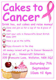 cakes to cancer charity event homecraft interiors blog cakes to cancer poster