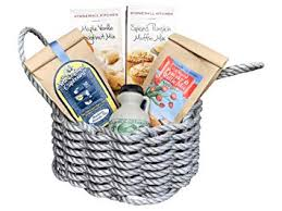 new england gourmet breakfast in a maine lobster rope gift basket