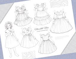 Return from coloring paper dolls to free printable paper dolls home. Free Printable Color In Paper Doll With Dresses Money Saving Mom Money Saving Mom