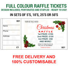 Prize Draw Tickets 1000 Printed Personalised Raffle Prize Draw Tickets Events Ebay