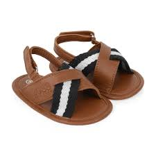 boss kids baby boys brown leather sandals