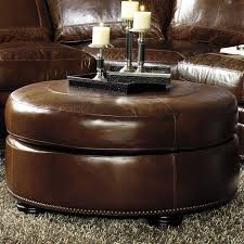 round leather storage ottoman amazing catchy coffee table top in throughout ideas 6