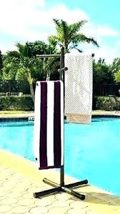 outdoor towel holder poolside diy outdoor pool towel rack