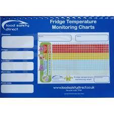 Safe Food Temperatures Chart Uk Fridge Temperature Monitoring Charts Book A4 Size