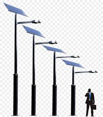 Pole Mounted Solar Light Solar System Background