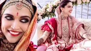 deepika padukone plete makeup bridal look ranveer singh and deepika wedding