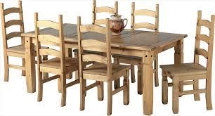 table and 6 chairs. corona distressed waxed pine 6\u0027 table \u0026 6 chairs and