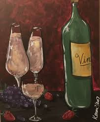 painting wine and dine